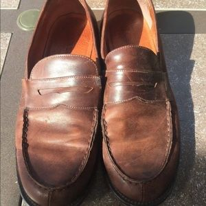 Men's J. CREW Brown Leather Penny Loafer Size 11.
